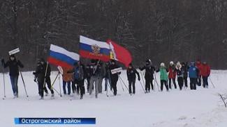 Школьники устроили лыжный пробег в память об освобождении Острогожска