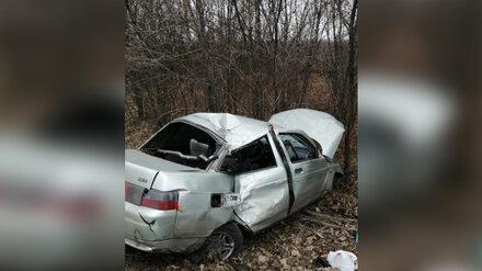 В Воронежской области пьяный водитель врезался в дерево: пострадали четверо