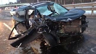 Под Воронежем в массовом ДТП с автогрейдером погиб водитель Renault
