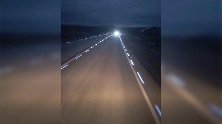 Дорожники ответили на критику водителей о светящейся разметке на воронежской трассе