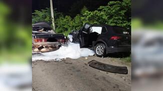 Появились фото с места смертельной аварии на трассе под Воронежем