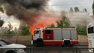 Воронежцы сообщили о крупном пожаре в Юго-Западном районе