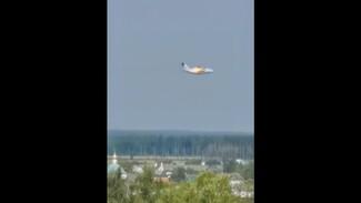 Появилось видео момента падения воронежского самолёта Ил-112В в Подмосковье