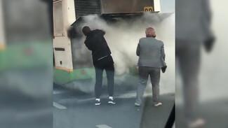 Перевозчик прокомментировал пожар в пассажирском автобусе в Воронеже