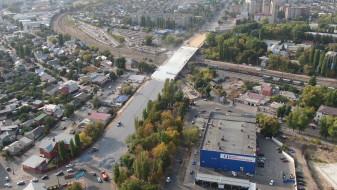 Воронежцам показали на видео новый виадук на 9 Января за несколько дней до открытия
