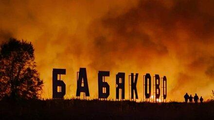 Страшный пожар добрался до воронежского Бабяково