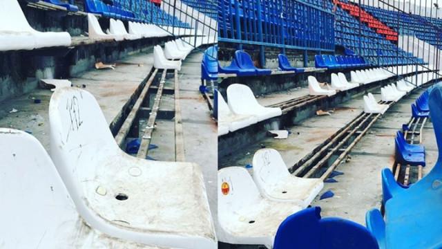 Футбольные фанаты разгромили Центральный стадион профсоюзов в Воронеже