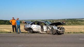 В Воронежской области в лобовом ДТП пострадали два человека