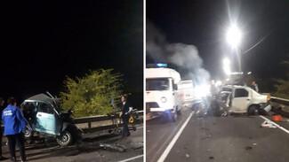 Появились фото последствий ДТП с 4 погибшими в Воронежской области