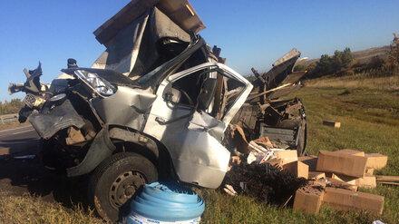 На трассе в Воронежской области в ДТП с тремя грузовиками разбился водитель