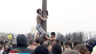 На площади Ленина воронежцы проводили зиму