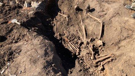 На воронежской стройке нашли останки двух бойцов Красной армии