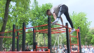 В Воронеже появилась площадка для воркаута