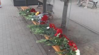 Воронежцы устроили стихийный мемориал на месте взрыва маршрутки