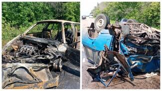 В Воронежской области в загоревшейся после ДТП машине пострадали дети