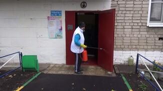 В воронежском райцентре из-за угрозы коронавируса продезинфицируют подъезды