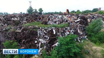 В Воронеже ликвидируют одну из самых больших незаконных свалок