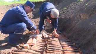 Под Воронежем спасатели уничтожили более 200 боеприпасов