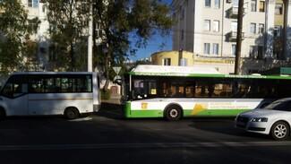 В Воронеже при столкновении маршруток пострадали три пассажира