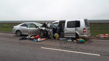 В Воронежской области в столкновении легковушки и фургона пострадали 8 человек