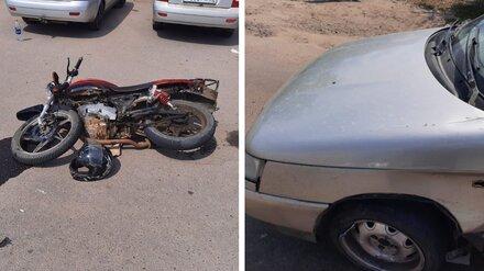 В Воронежской области 17-летний мотоциклист попал в больницу после ДТП