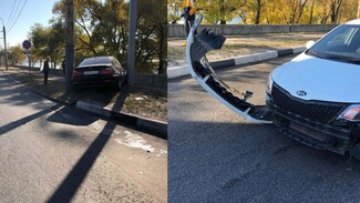 Воронежцы сообщили о вылетевшей на тротуар BMW