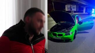 В центре Воронежа полиция устроила погоню за неадекватным водителем зелёного BMW