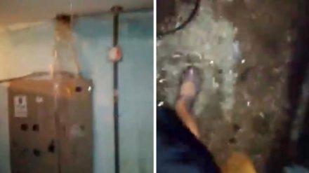 Воронежская УК объяснила причины ливня в подъезде многоэтажки и потопа в квартирах