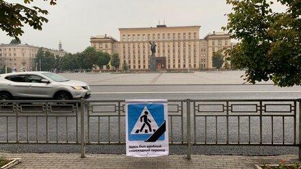 В Воронеже на месте исчезнувших пешеходных переходов установили траурные таблички