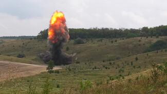 Под Воронежем взорвали около 2,5 т снарядов времён Великой Отечественной войны