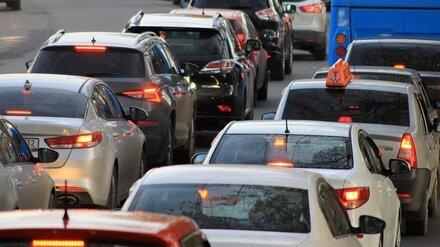 Из-за пяти ДТП на выезде из Воронежа образовалась семикилометровая пробка