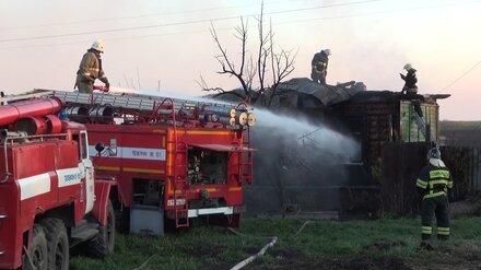 Под Воронежем при пожаре в дачном доме погиб мужчина