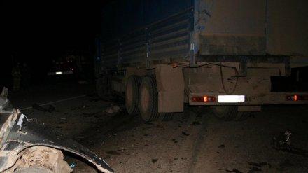Под Воронежем мотоцикл влетел под фуру: 2 человека погибли