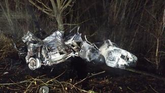 В воронежском селе в ДТП с пожаром погибли водитель и пассажир