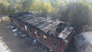 Под Воронежем у сгоревшей старинной школы вновь случился пожар