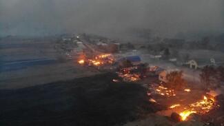 В селе Воронежской области лесной пожар добрался до жилых домов