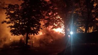 Воронежцы: в Железнодорожном районе второй раз за неделю горели надворные постройки