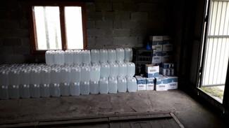 В Воронежской области обнаружили склад с поддельным алкоголем на 1 млн рублей