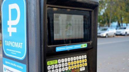 Воронежские платные парковки поставили рекорды востребованности