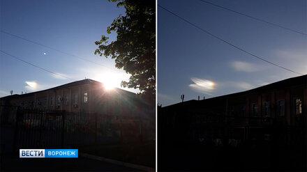 В небе над Воронежем заметили редкое радужное облако