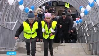 В Анне открыли первый надземный пешеходный переход