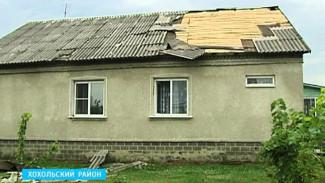 В Воронежской области снесло крышу дома, попавшего в эпицентр урагана
