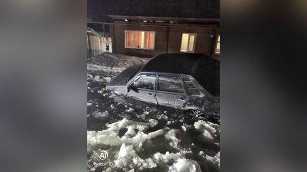 В Воронежской области осушили поглотившую ВАЗ гигантскую лужу