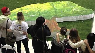 Воронежские школьники собрали пазл размером в человеческий рост