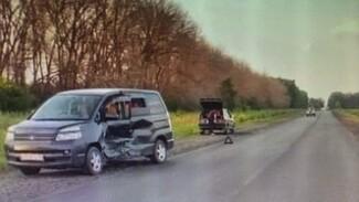 Женщина с тремя детьми попала в больницу после ДТП в  Воронежской области