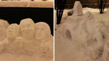 В Воронеже дедушка вылепил «музей» снежных скульптур