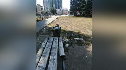 Воронежцы пожаловались на неухоженный сквер в оживлённом месте