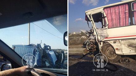 В очередном ДТП с рейсовым автобусом в Воронежской области пострадали 6 человек