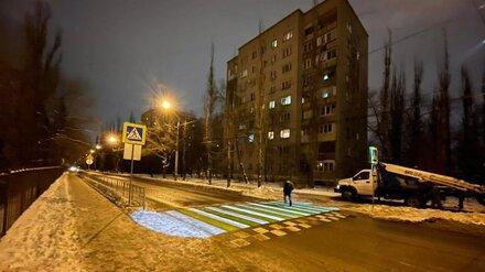 В Воронеже починили «светящийся» переход у лицея