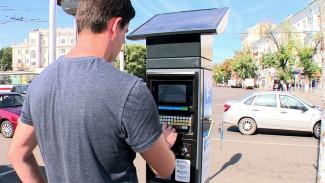 Год работы платных парковок обошёлся воронежским автомобилистам в 86 млн рублей